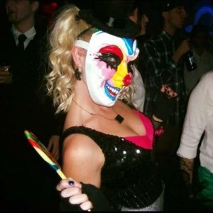 Custom Handmade, PaperMache, Clown/Harlequin Mask